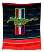 Boss 302 Ford Mustang Emblem Tapestry