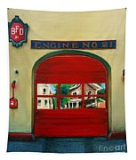 Boston Fire Engine 21 Tapestry