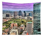 Boston From Above Tapestry