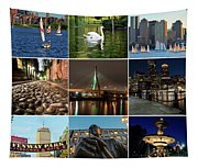 Boston Ma Nine Image Collage 1 Tapestry