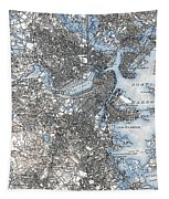 Boston Map, 1903 Tapestry