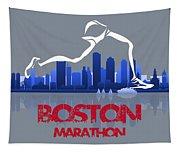 Boston Marathon 3a Running Runner Tapestry