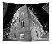 Boston Old State House Boston Ma Angle Black And White Tapestry
