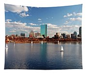 Boston On The Charles  Tapestry