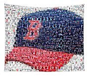 Boston Red Sox Cap Mosaic Tapestry