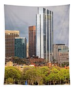 Boston Skyline Skyscraper Boston Ma Charles River Tapestry