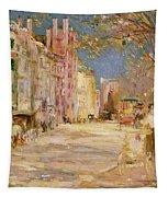 Boston Street Scene. Boston Common Tapestry