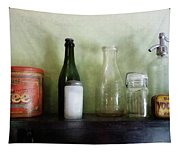 Bottles And A Coffee Can Tapestry