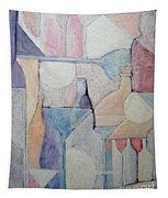 Bottles And Glasses Tapestry