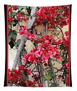 Bougainvillea On Mission Wall - Digital Painting Tapestry