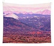 Boulder Colorado Sunrise Panorama Tapestry