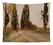 Boulevard Of Poplars Near Plankenberg Tapestry