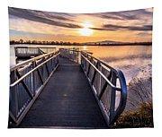 Bountiful Lake Pier Tapestry