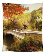Bow Bridge Autumn Crossing Tapestry by Jessica Jenney