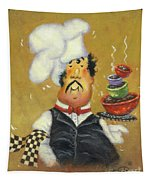 Bow Tie Chef Four Bowl Tapestry