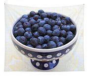 Bowl Of Blueberries Tapestry