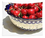 Bowl Of Cherries With Shadow Tapestry