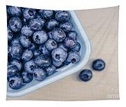 Bowl Of Fresh Blueberries Tapestry