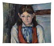 Boy In A Red Vest Tapestry