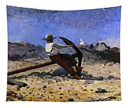 Boy With Anchor Tapestry