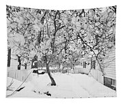 Branches In Snow Tapestry