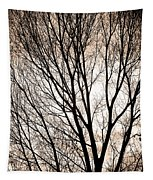 Branches Silhouettes Mono Tone Tapestry