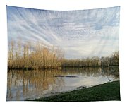 Brazos Bend White Egret Solitude Tapestry