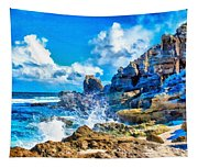Breakers On The Rocks At Kenridgeview - On - Sea L A S Tapestry