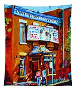 Breakfast At The Bagel Cafe Tapestry
