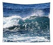 Breathe Like Water Kashmir Blue Sapphire Tapestry