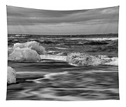 Brethamerkursandur Iceberg Beach Iceland 2155 Tapestry