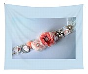Bridal Sash Belt With Flowers And Rhinestones Tapestry