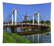 Bridge And Windmill Tapestry