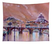 Bridge Of Angels - Rome - Italy Tapestry
