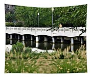 Bridge Over Silver Lake - Rehoboth Beach Delaware Tapestry
