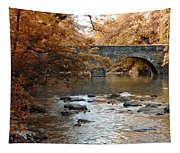 Bridge Over The Wissahickon At Valley Green Tapestry