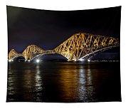 Bridge Over Water Lights. Tapestry