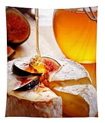 Brie Cheese With Figs And Honey Tapestry