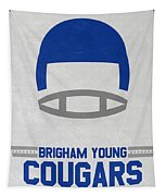 Brigham Young Cougars Vintage Football Art Tapestry