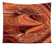 Bright Fantasies Of Delightful Orange Tapestry