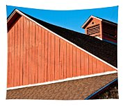Bright Red Barn Tapestry