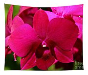 Bright Scarlet Red Orchid Tapestry