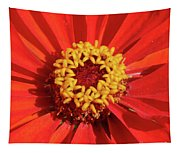 Bright Zinnia Tapestry