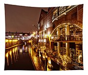 Brindleyplace At Night Tapestry