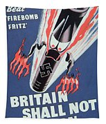 Britain Shall Not Burn Tapestry by English School