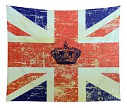 British Flag And Royal Crown Tapestry