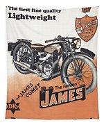 British James Comet Motorcycle  1948 Tapestry
