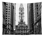 Broad Street At City Hall Tapestry