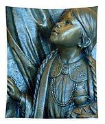 Bronze Onieda Indian Girl Tapestry