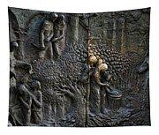 Bronze Sculptured Church Door - Slovenia Tapestry